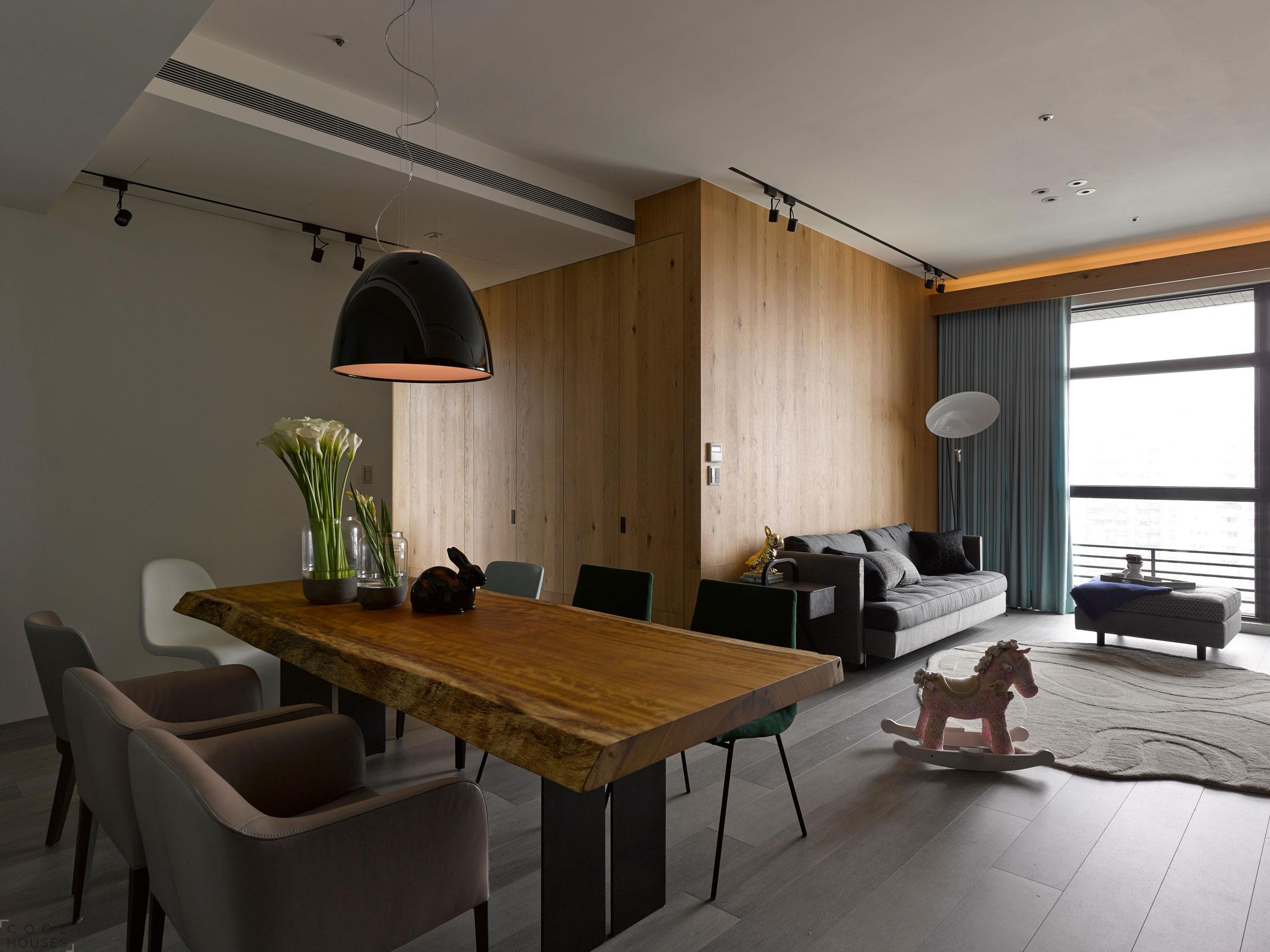 Современная трехкомнатная квартира в городе Тайбэй, Тайвань