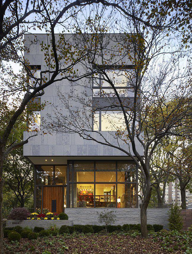 Дом около озера в Чикаго
