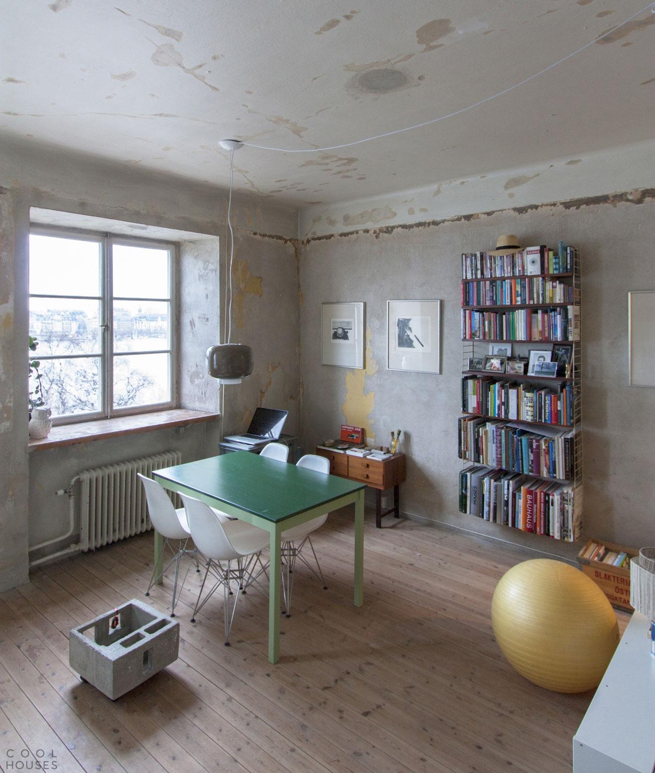 Дизайн небольшой квартиры в стиле лофт, Швеция