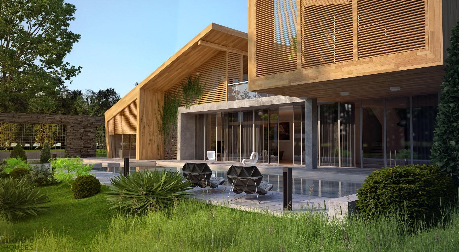 Проект частного загородного дома от Bracia Burawscy Architekc