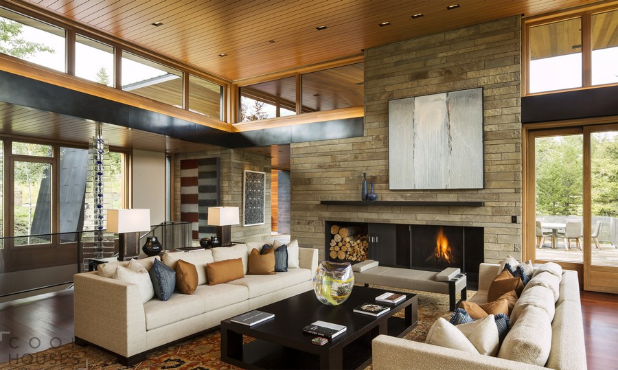 Уютный вариант загородного дома в США