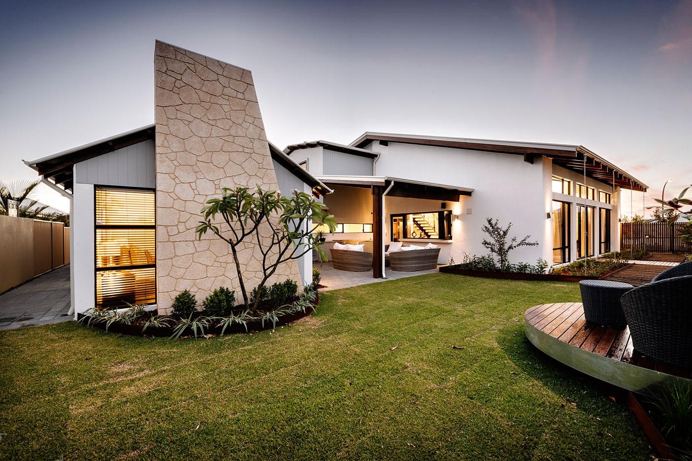 Дом в стиле лофт с ярким интерьером в городе Перт, Австралия