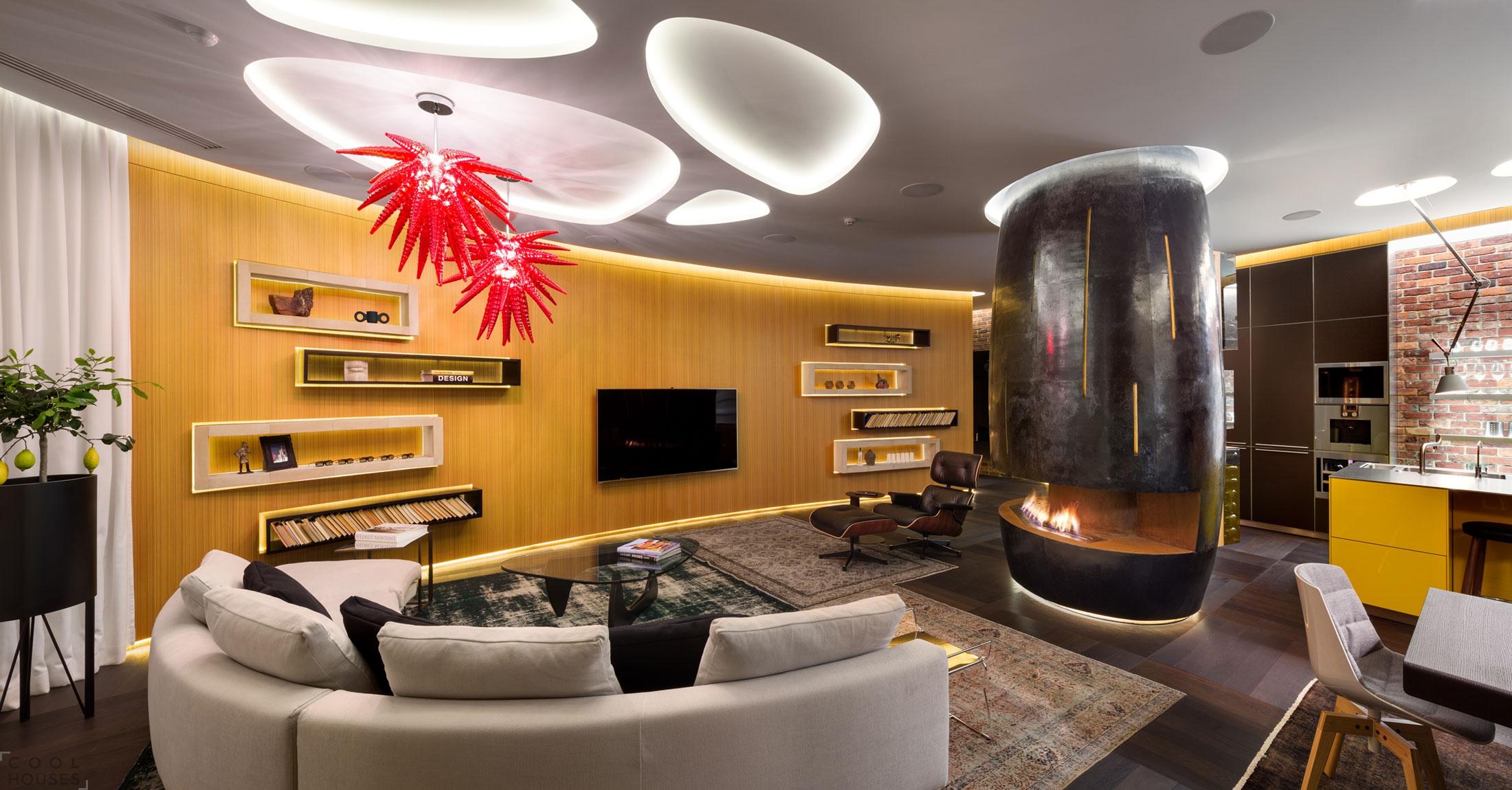 Потрясающая квартира в центре Киева, Украина, от дизайн-студии Барабан+