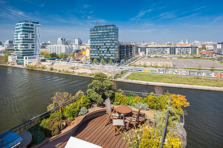 Шикарный пентхаус с видом на реку Шпрее, Берлин, Германия