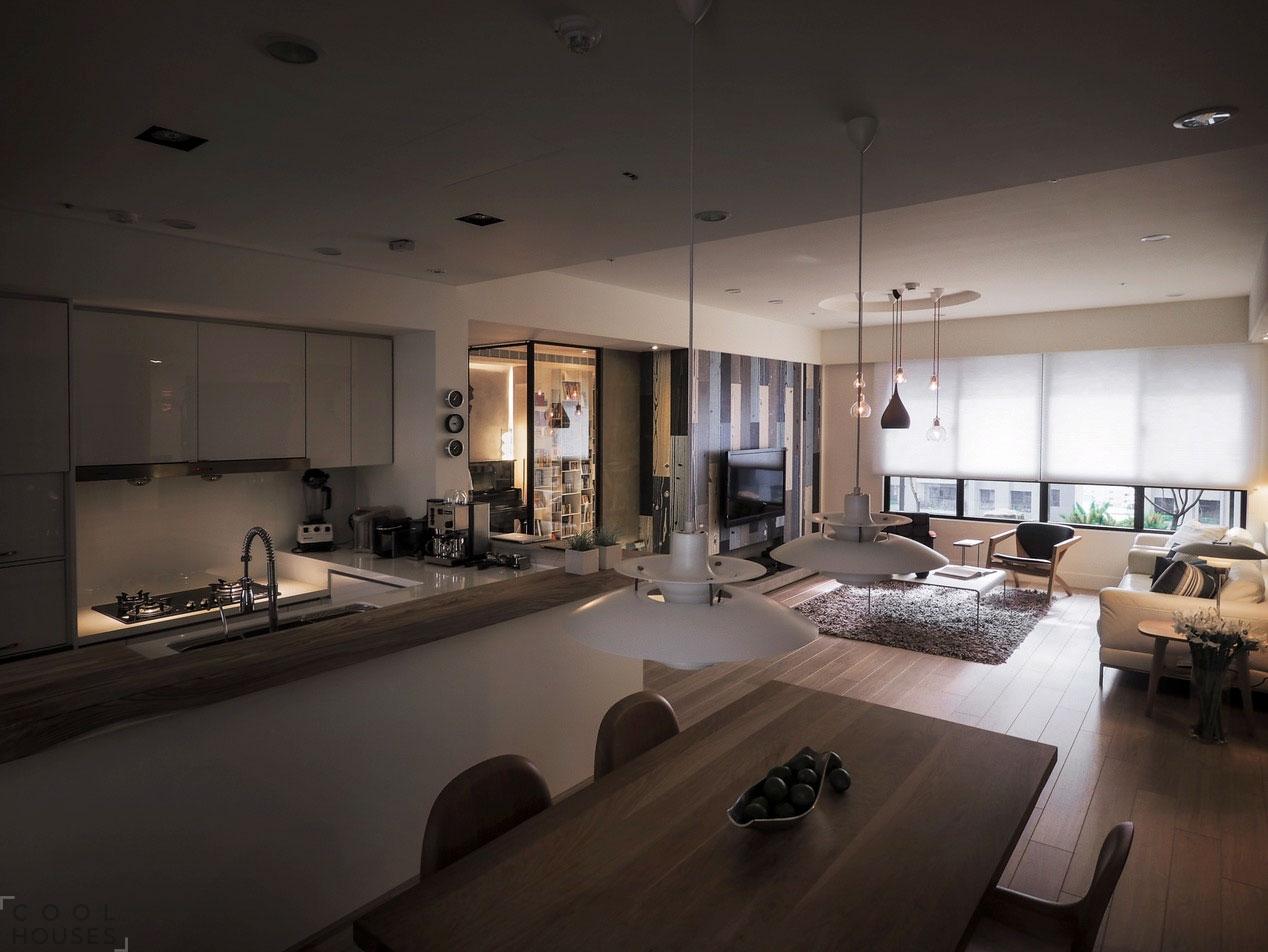 Современная квартира в европейском стиле в Тайване