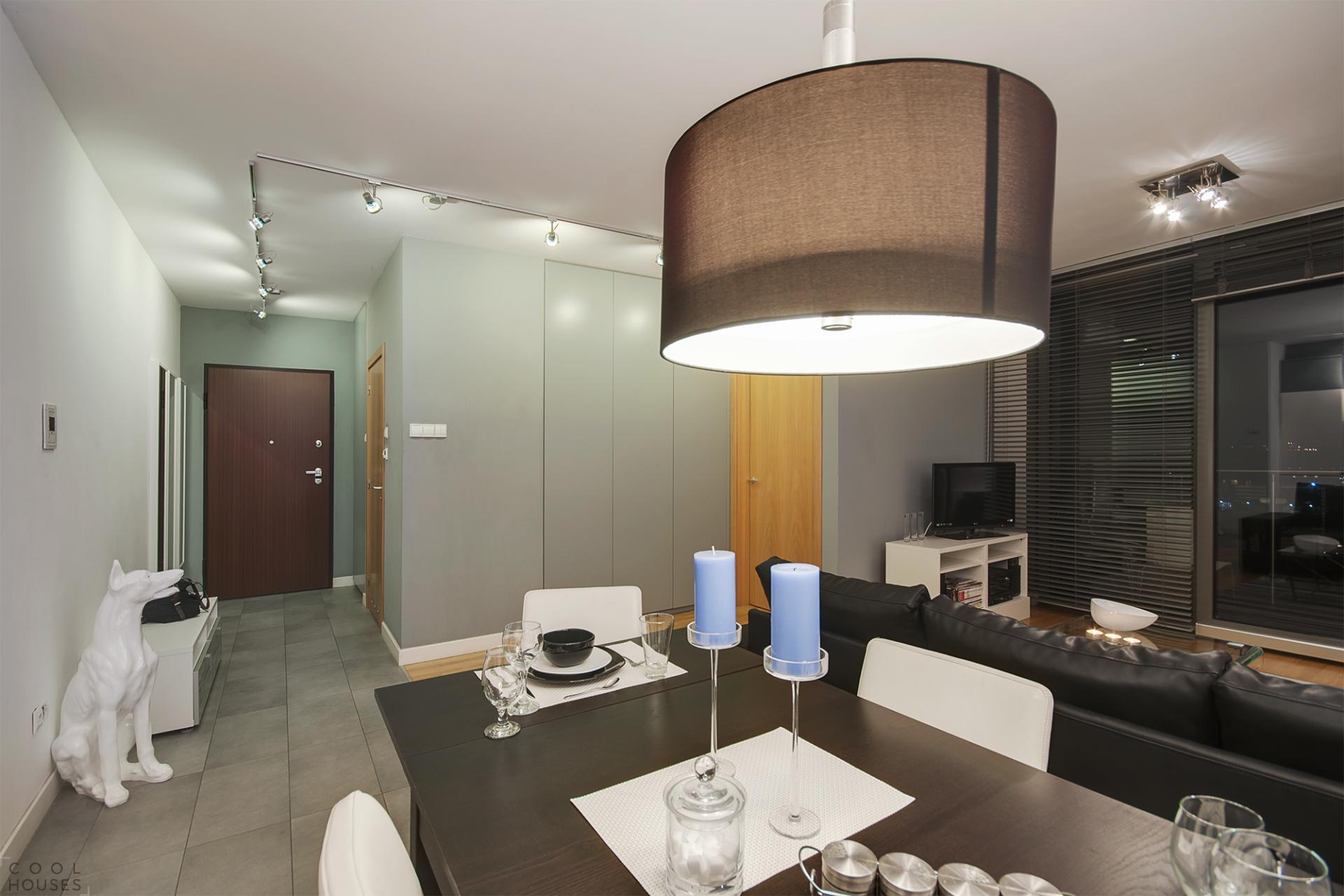 Интерьер небольших квартир в жилом комплексе Wislane Tarasy Apartment