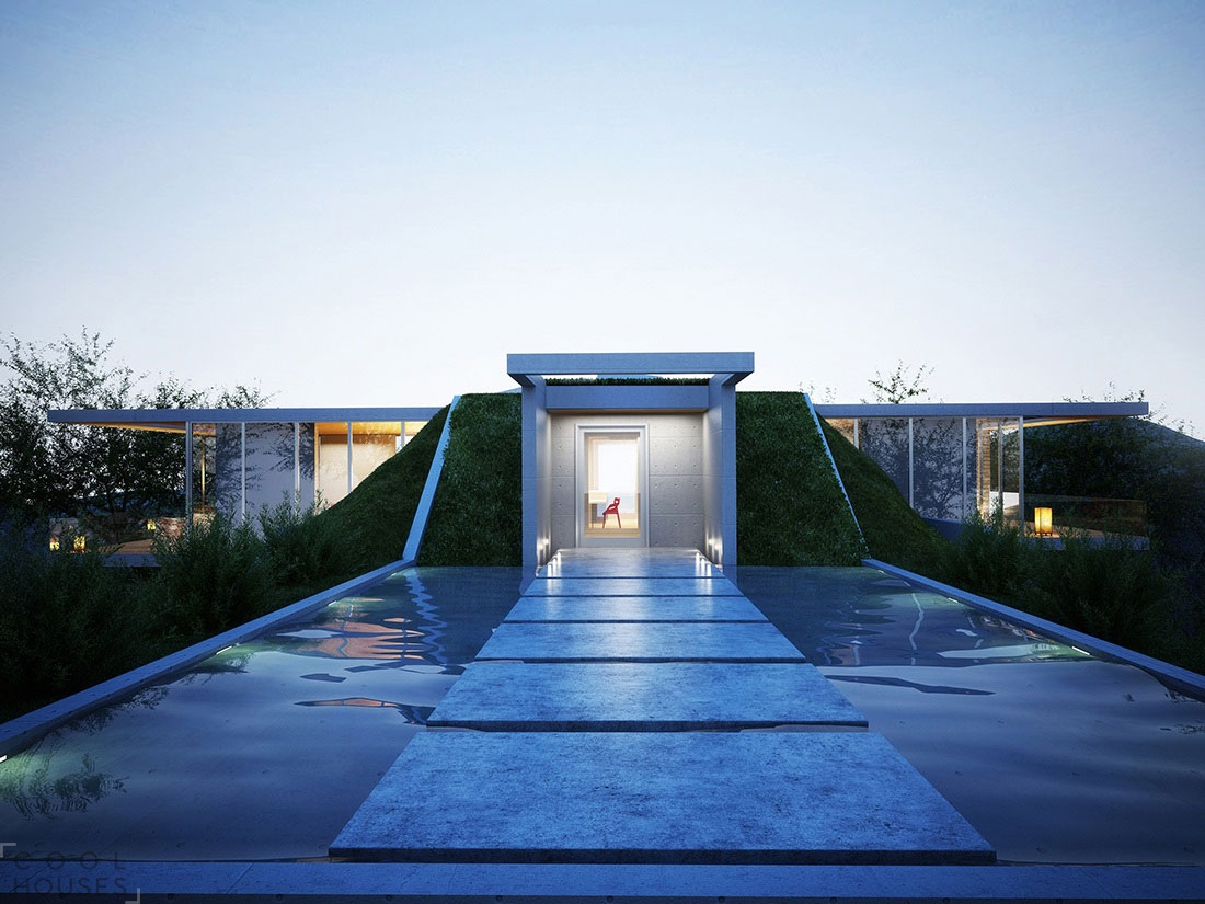 Оригинальный дом в земле от архитектурной студии Molos Group