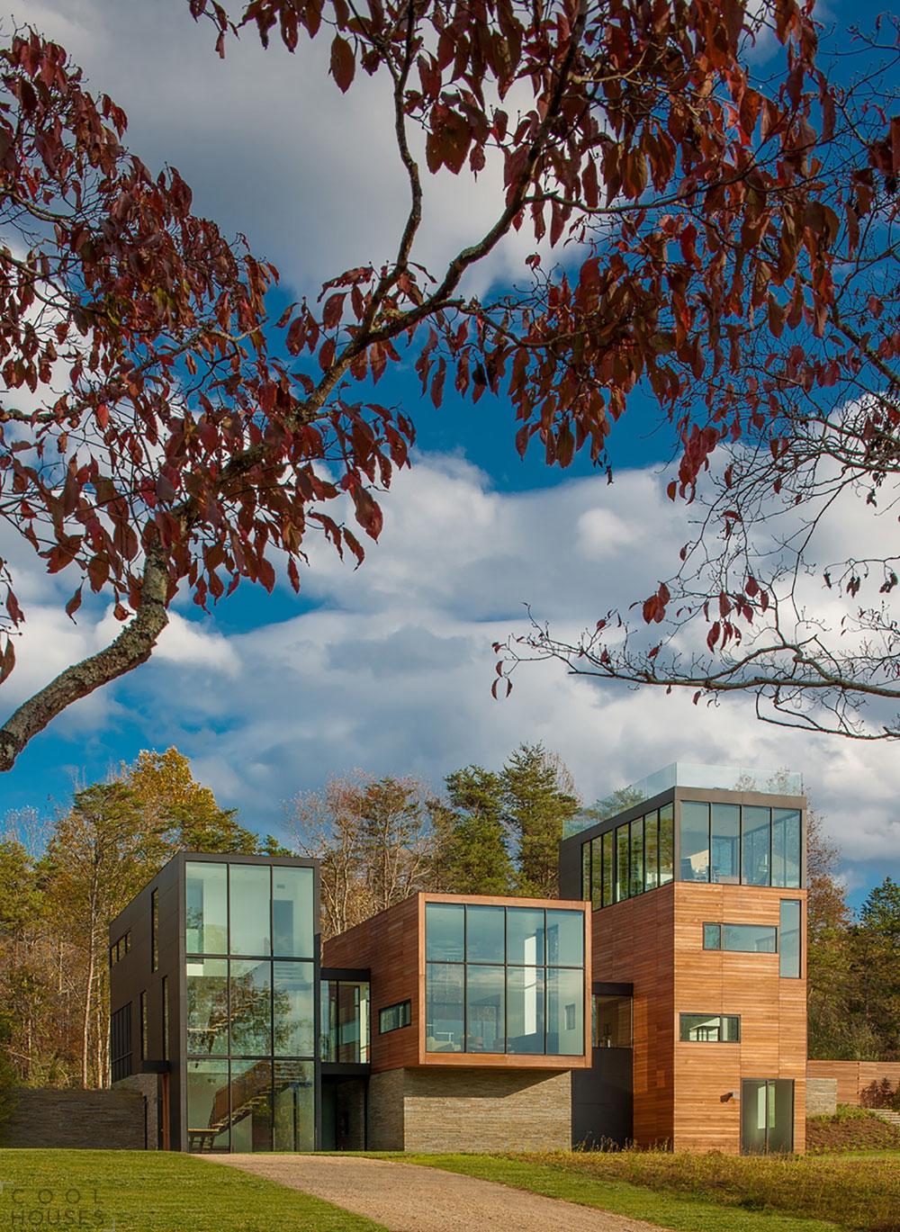 Прямоугольный дом - проект от студии Robert M. Gurney Architect