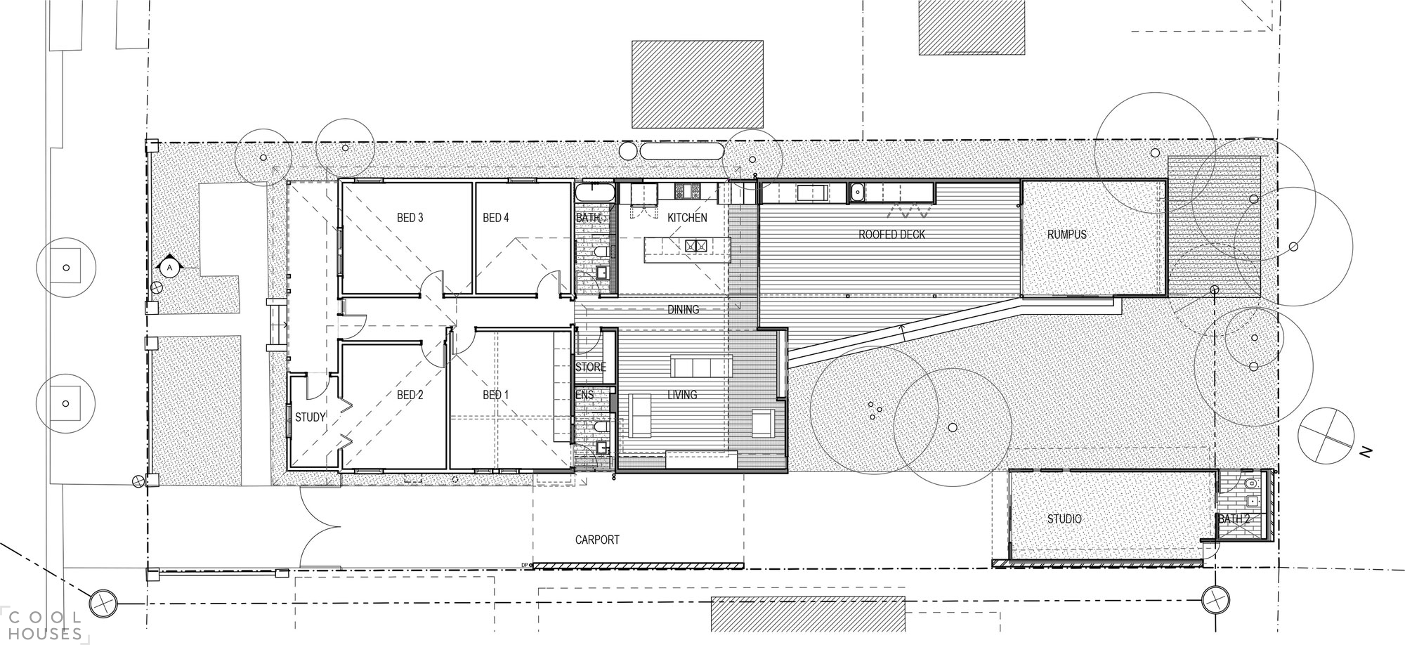 Частный дом с современным дизайном интерьера