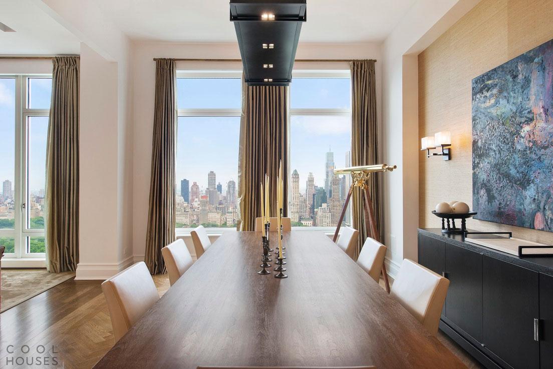 Элегантная квартира с видом на центральный парк в Нью-Йорке