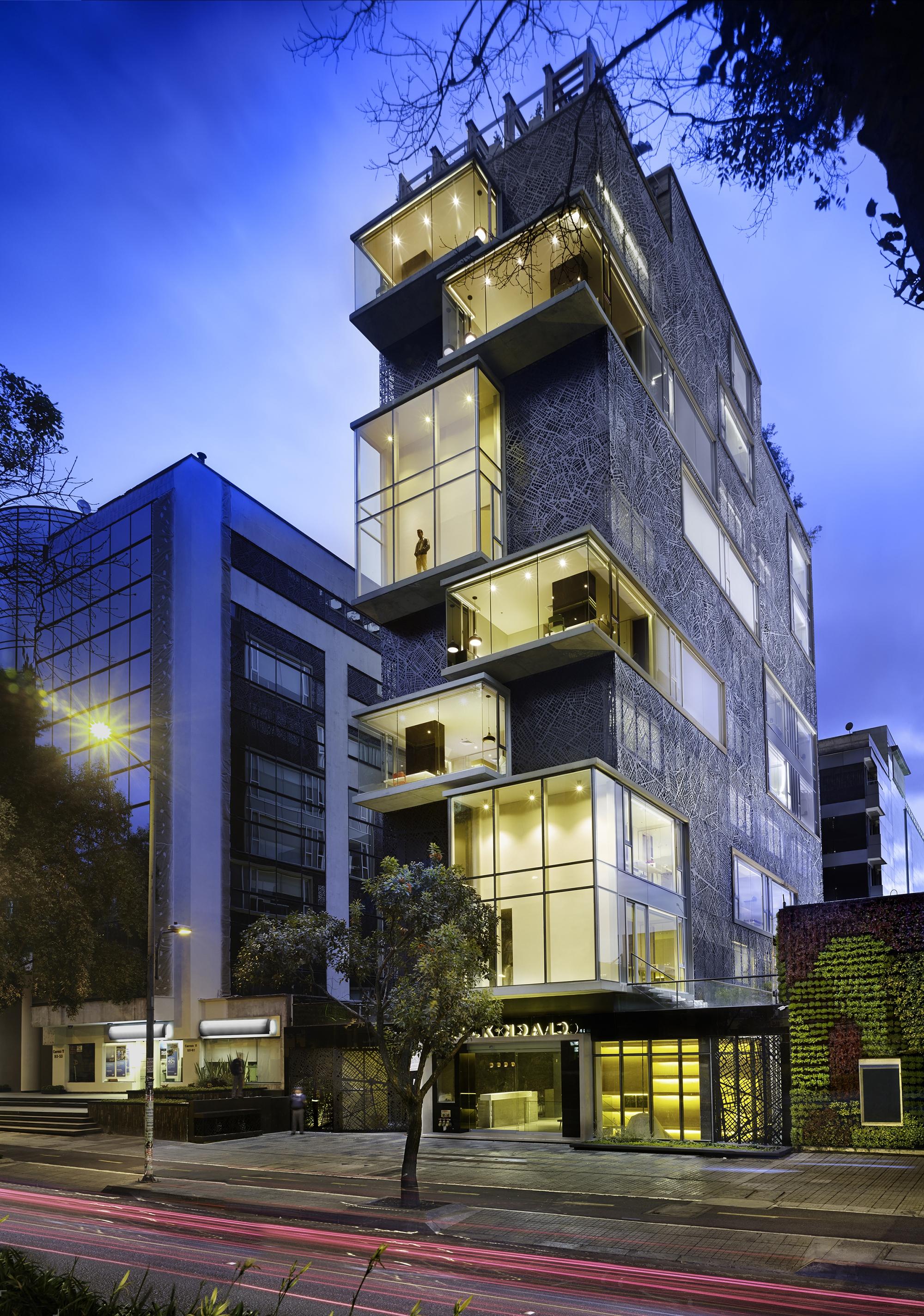 Проект оригинального отеля в Колумбии