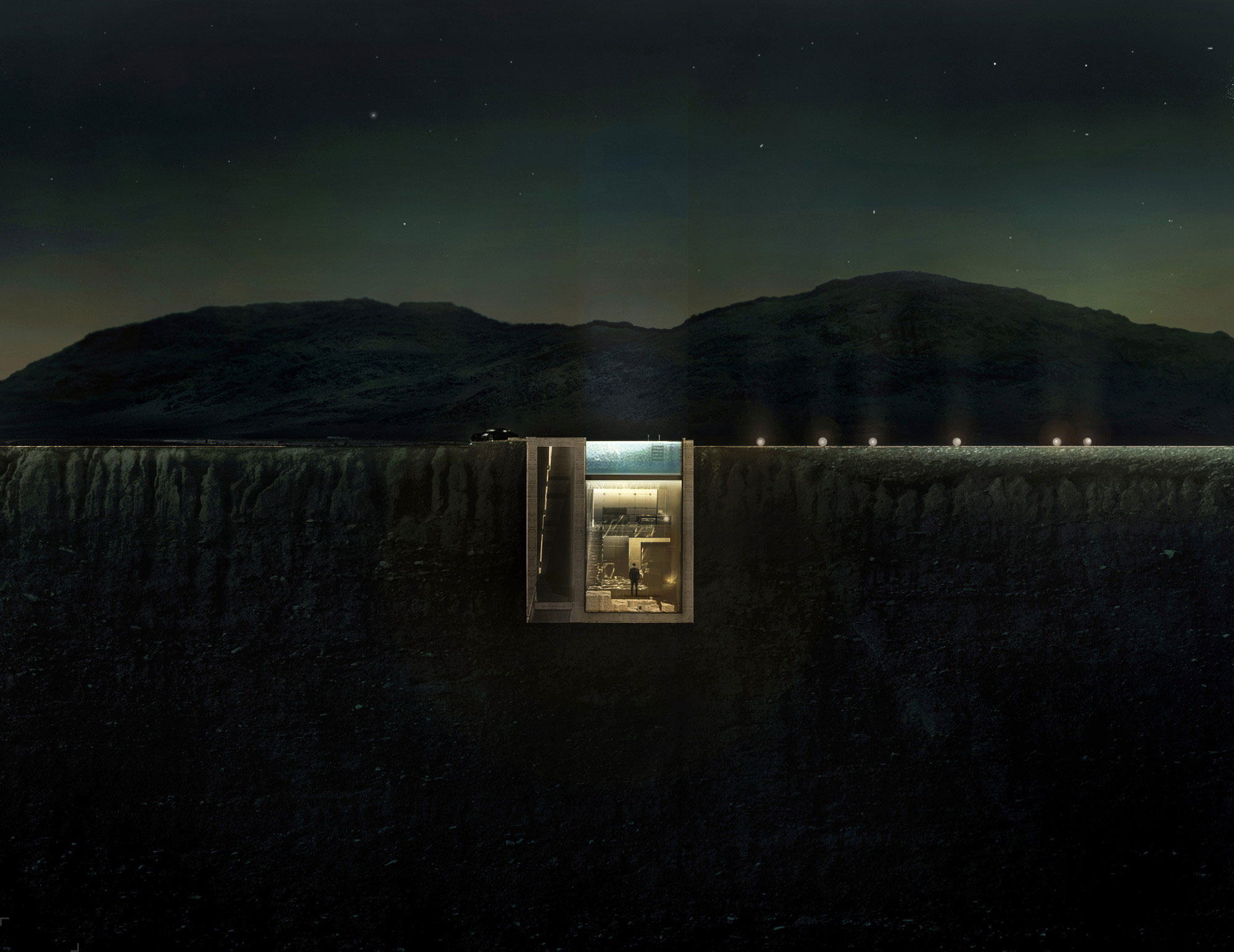 Оригинальный проект дома Casa Brutale в Греции