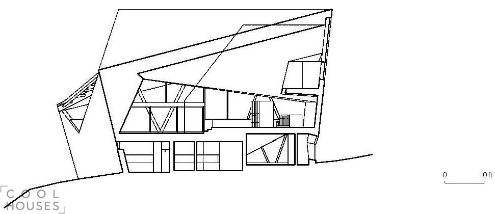 Загородный дом необычной геометрической формы в Канаде